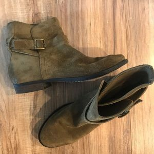 Sam Edelman Olive Green Suede Boots